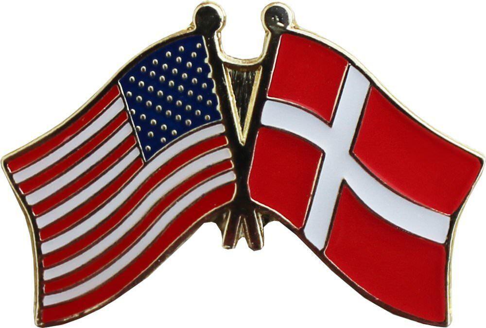 Wholesale Pack of 50 USA American Denmark Friendship Flag Hat Cap lapel Pin