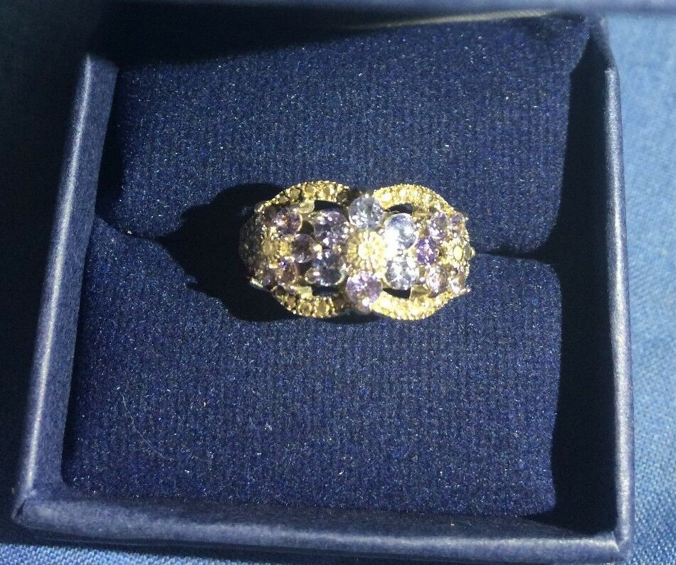 African purples Tanzanite and Diamond womans ring - Never been worn - Seller