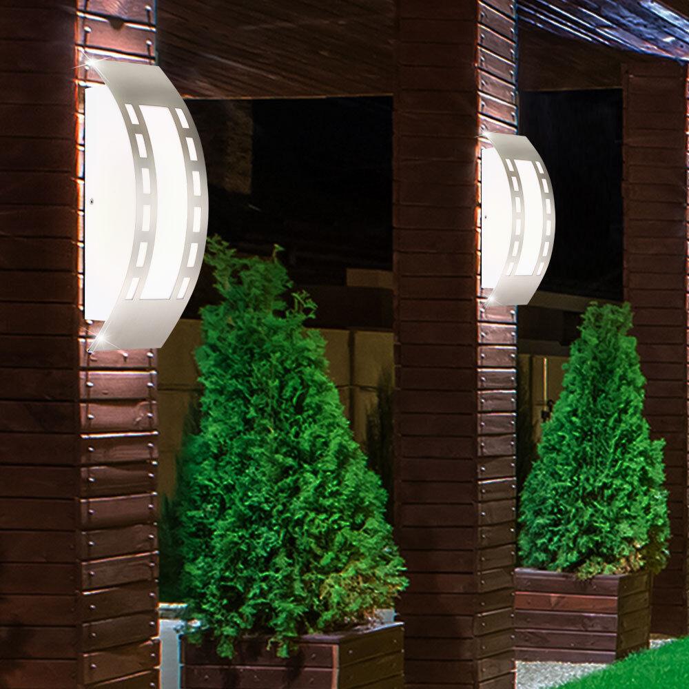 Ensemble 2 appliques murales extérieures LED 7 W façades Lampes inox eclairage