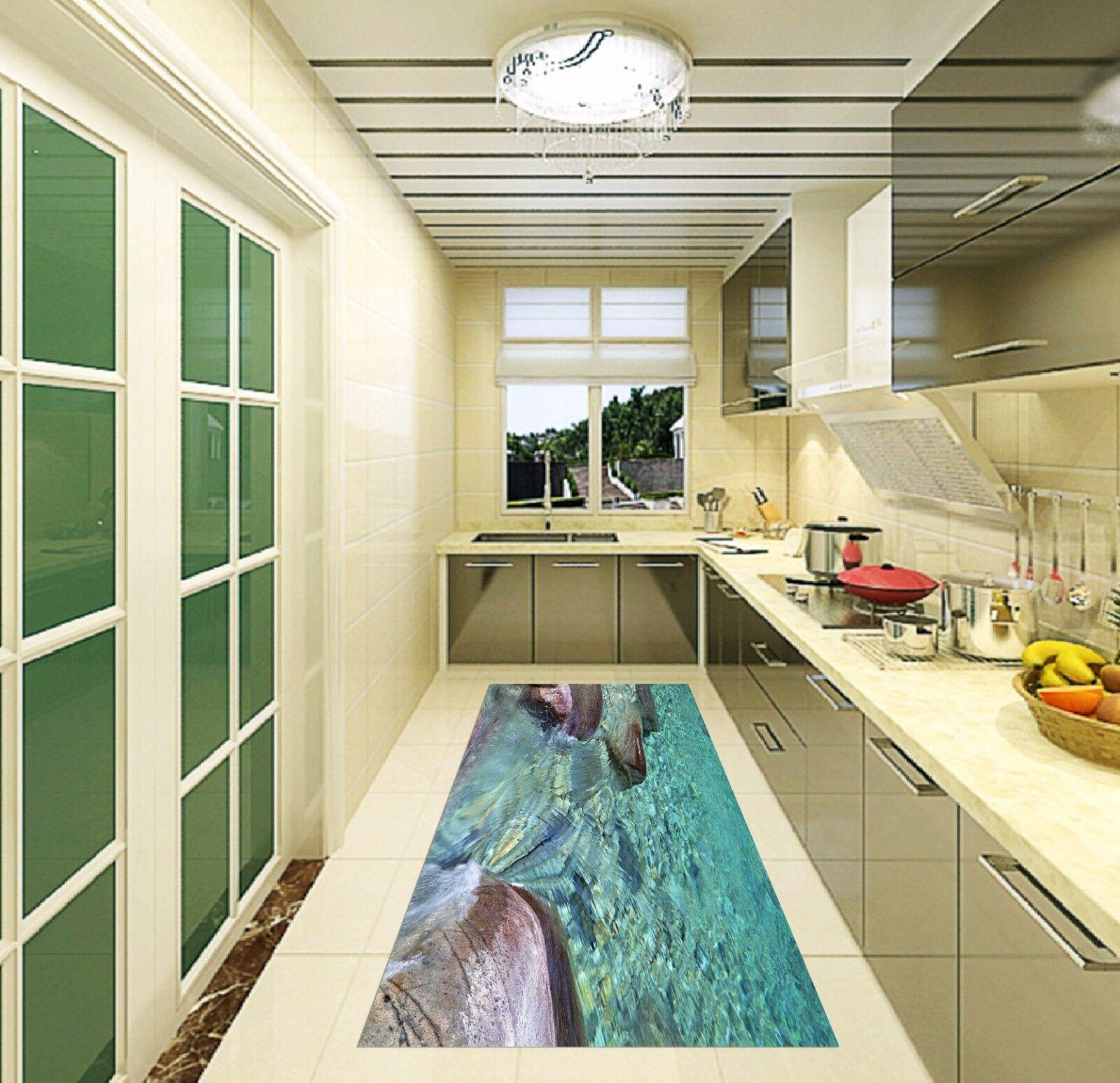 3D Sea Stones 7 Kitchen Mat Floor Murals Wall Print Wall AJ WALLPAPER AU Kyra