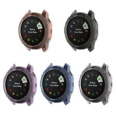 Colorful Silicone Protective Case Bumper Sleeve Shell Frame Protector Cover Accessories for Garmin Fenix 5 Smartwatch Fit for Garmin Fenix 5 Case White