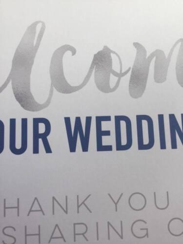 Personalised Ladies Toiletry Bathroom Wedding Sign Silver Grey /& Navy Blue SN18