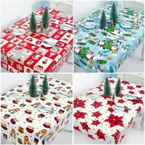 Merry-Christmas-Dining-Table-Runner-Cloth-Flag-Xmas-Party-Banquet-Home-Decor