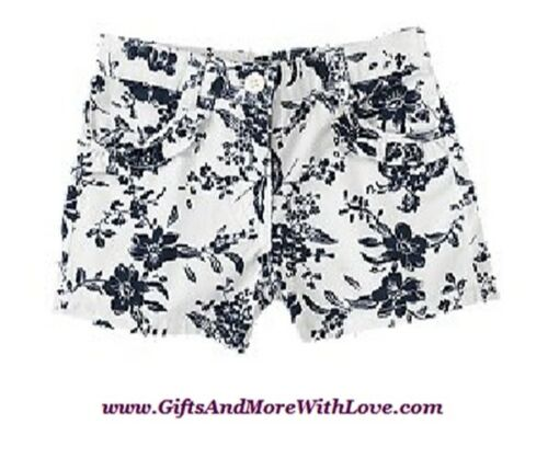Crazy 8 NWT Ivory FLORAL RUFFLE POCKET SHORTS DRESS BOTTOMS 18 24 2T 3T