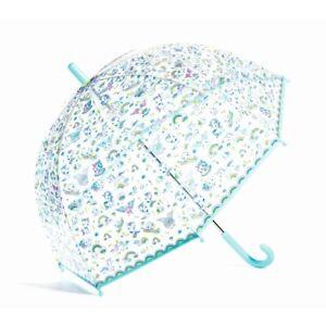 Djeco Kinderregenschirm Einhorn durchsichtig Regenschirm Kinder schönes Design