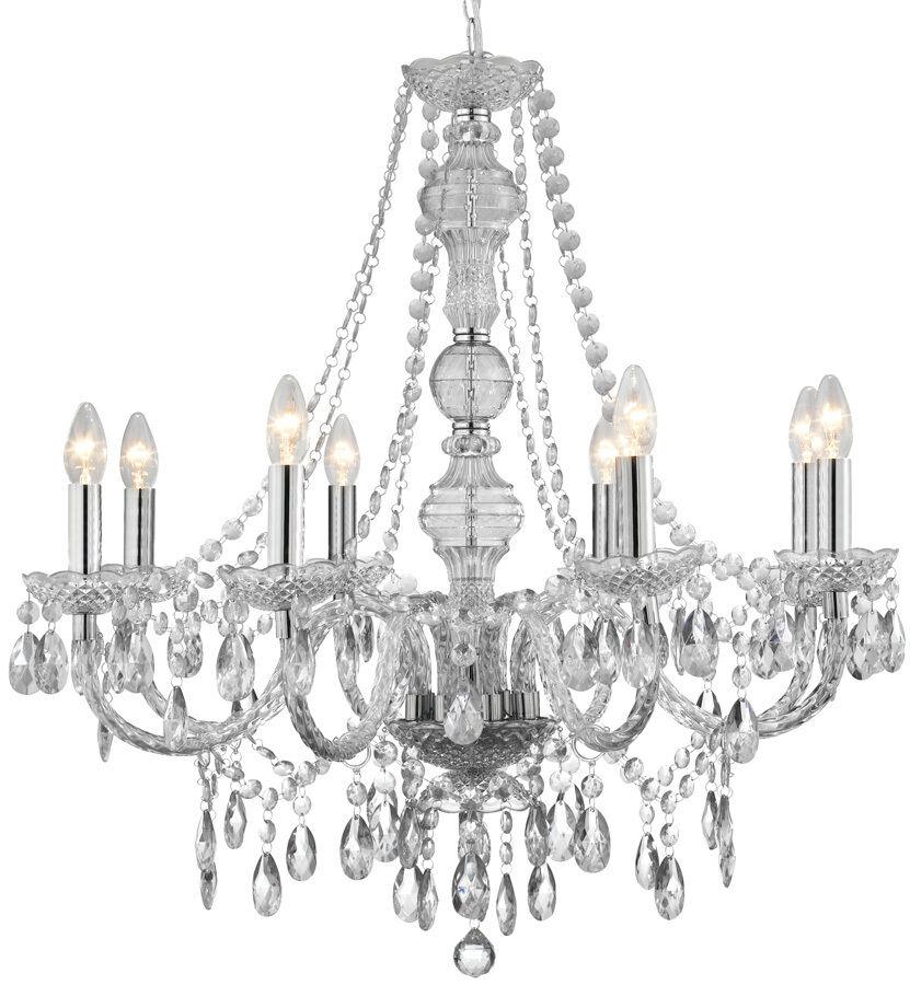 Marie THERESE lustre 8 lumière plafonnier en clair, champagne champagne champagne ou graphite | Le Roi De La Quantité  e4fdc9