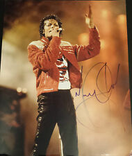 MICHAEL JACKSON Signed 14x11 Photo THRILLER & BAD King Of Pop COA