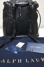 NWT Rare Ralph Lauren Leather backpack  Unisex Black Bag
