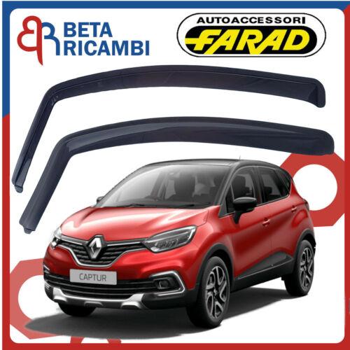 Deflettori Aria Per Renault Captur 5 Porte 2013/>Antivento Antipioggia Fumè 12608
