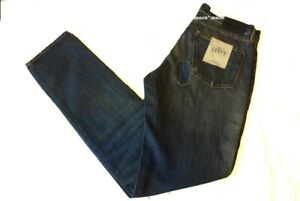 bf172b52466 $228 New Mens LEVIS Tack Slim 33 x 34 Vintage Blue MADE & CRAFTED ...