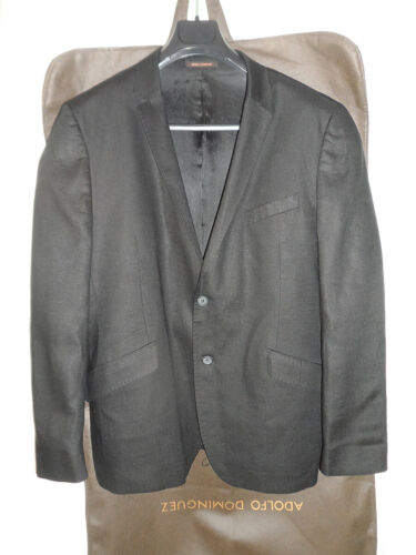 Adolfo Dominguez Men 100% Linen Suit Black