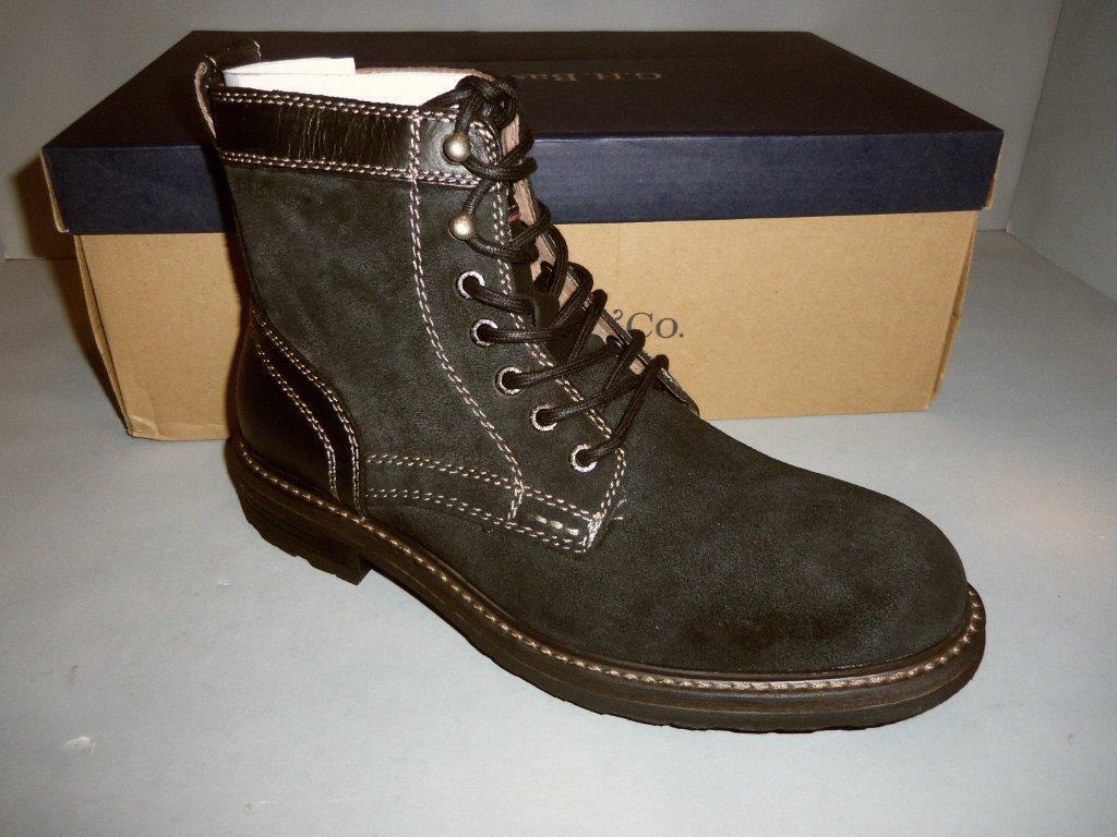Bass Men's Reddington Suede Leather Black Boots SIZES  NIB NEW