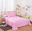 Soft Cotton Solid Color Flat Fitted Sheets Bed Coverlet Set Comfort Bed Covers