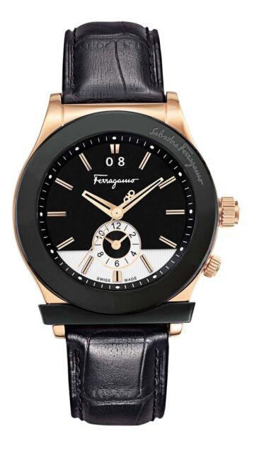 145498ec274 Salvatore Ferragamo 1898 Black Leather Strap Watch 40mm for sale ...