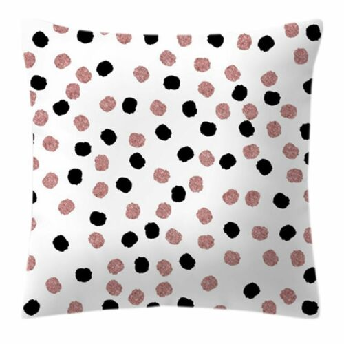 Rose Gold Nordic Geometric Pineapple Glitter Cushion Cover One Side Printed ~ Dw