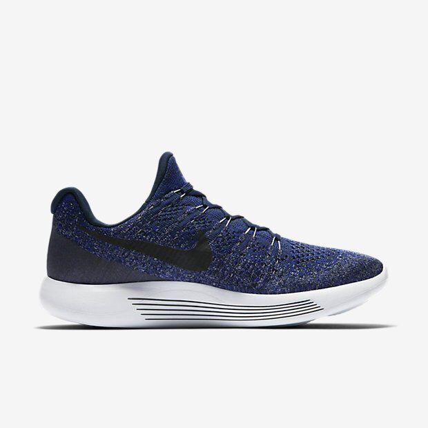Nike lunarepic basso flyknit 2 uomini scarpe da corsa college della marina 863779-406 10