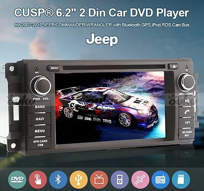 """6.2"""" DOUBLE 2DIN DVD PLAYER CAR Stereo RADIO Bluetooth GPS SAT NAV BT  FOR JEEP"""