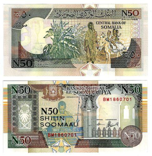 1991 Somalia 50 Shillings Uncirculated Crisp Note