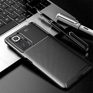 COVER per Xiaomi Redmi Note 10 / Pro CUSTODIA CARBONIO SLIM + VETRO TEMPERATO 9H