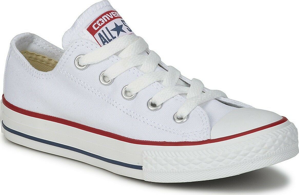 Converse Chuck Taylor All Star OX OX OX Optical Weiß Unisex Fashion Trainers 3 to 12  197443