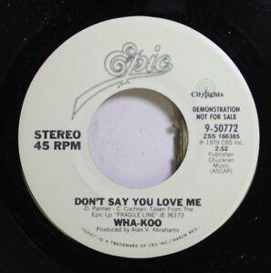 Rock-Promo-Nm-45-Wha-Koo-Don-039-T-Say-You-Love-Me-Don-039-T-Say-You-Love-Me-On-Epi
