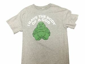 443f1105b I Have The Body Of A God Funny Buddha Vintage Gift Men's T shirt ...