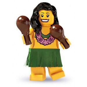 RARE-Lego-Minifig-series-3-Hula-girl-islander-with-maracas-suit-city-beach-scene