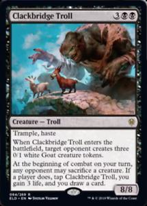 4RCards Throne of Eldraine Clackbridge Troll x4
