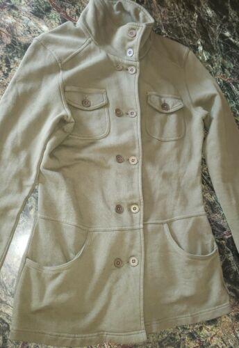 PrAna M Army Green Military Style Knit Utility Jac