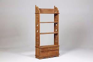Ripiani In Legno Grezzo : Libreria 4 cassetti e 3 ripiani al grezzo legno mogano cm 52x20 h