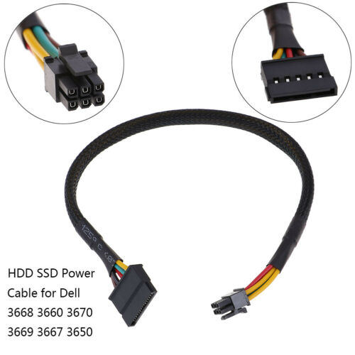 HDD SSD power cable 6 Pin to SATA 15Pin converter cable for dell 3668 3667 RKCA