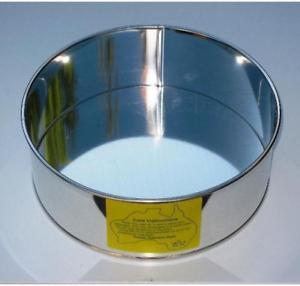 SHARP EDGED PAN CAKE TIN ROUND 4.1inch 3inch High 10.5cms  Diameter