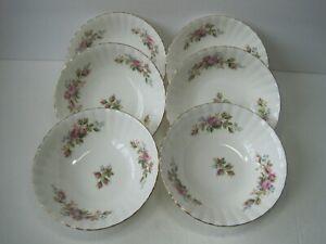 Vintage-1956-Royal-Albert-Moss-Rose-Dessert-Fruit-Rimmed-Bowl