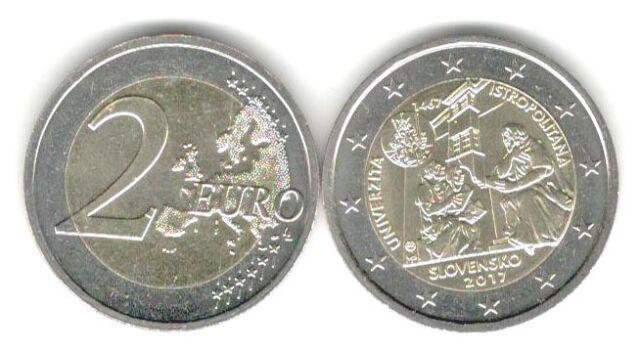Slowakei 2 Euro Gedenkmünze 2017 550 Jahre Universität Istropolitana