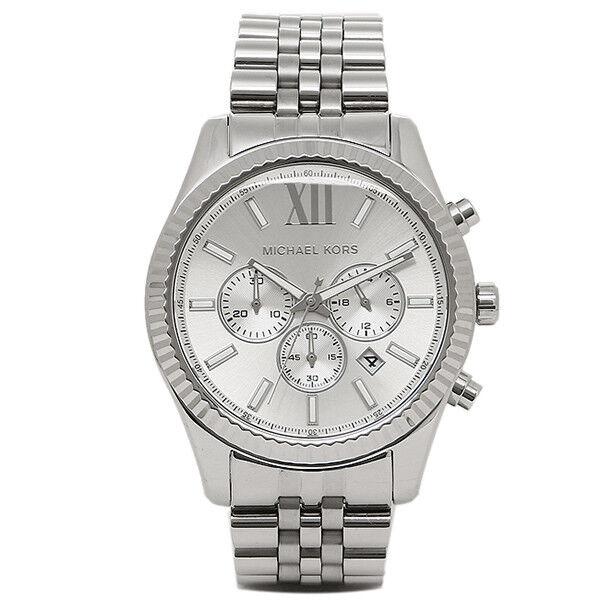 Michael Kors Lexington Reloj cronógrafo hombre mk8405 esfera plateada