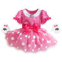Disney Store Minnie Mouse Halloween Costume Dress Gloves Set Girl 12-18m 18-24m