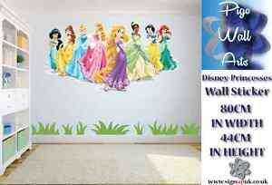Image Is Loading Disney Princesses Wall Sticker Children 039 S Bedroom