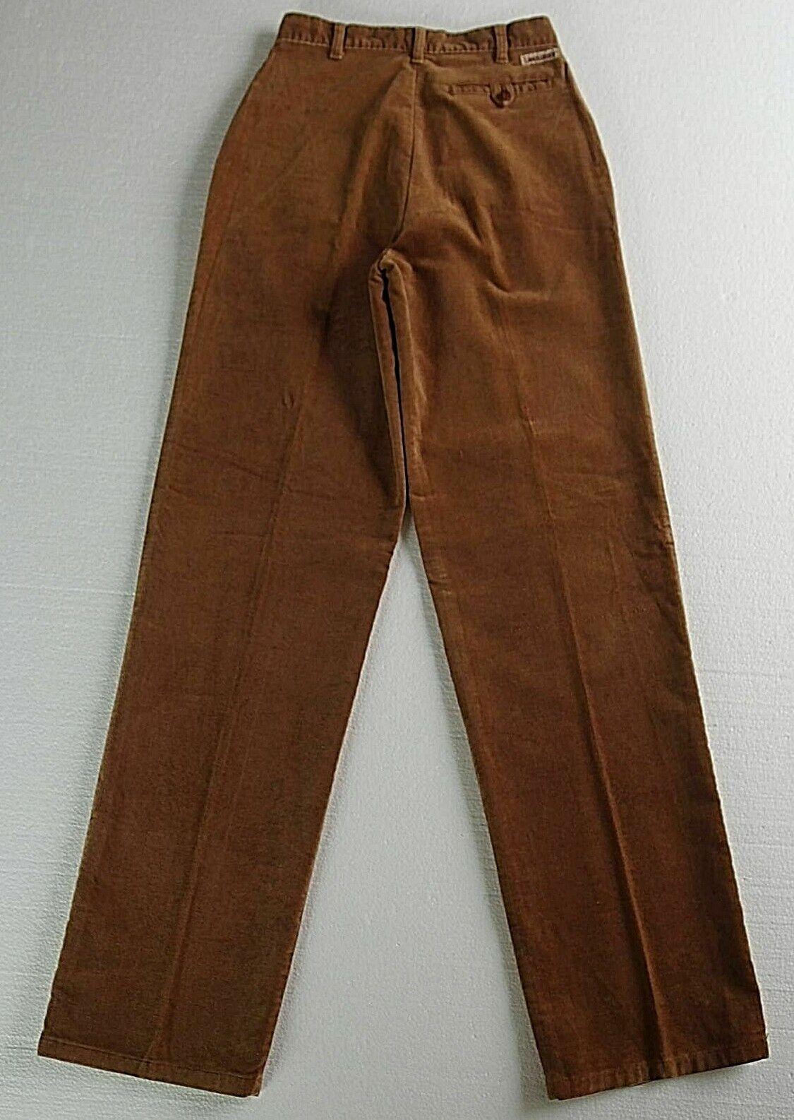 Vintage LANDLUBBER Brown sz 7 Pants Pleats High W… - image 4