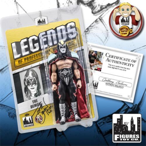 le démon Kiss Legends of Professional Wrestling action figures {autographié}