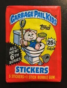 Topps GARBAGE PAIL KIDS Series 6 Unopened Wax Pack 1986