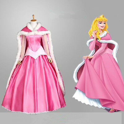 New Arrival Sleeping Beauty Aurora Princess Warming Cloak Made Cosplay Free Size