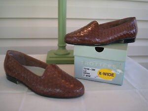 Womens New Liz Box Loafer Trotters Brown Shoe In 6dFw8q7xq