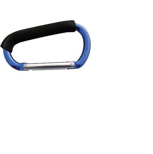 2XNEW Jumbo Aluminium Carabiner Clip Grab Hook Soft Grip Large Size 135mm