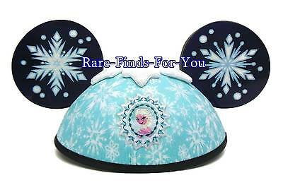 Disney Parks Frozen Movie Princess Anna and Elsa Deluxe Mickey Ear Hat Cap (NEW)