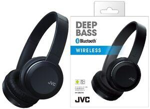 JVC-ha-s30bt-NEGRO-BAJOS-profundos-Inalambrico-Auriculares-Bluetooth-Original