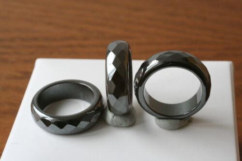 16mm-fac. 3 St Hämatit Ringe Q-5981//G//16
