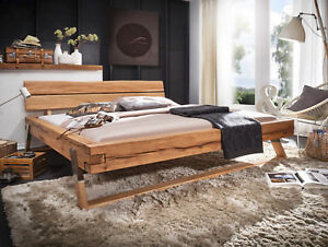 Doppelbett Massivholz Balken Bett Tyler 180x200 Cm Wildbuche Buche