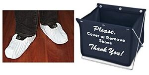 Foldable-Shoe-Cover-Holder-w-50-pairs-of-White-Shoe-Covers