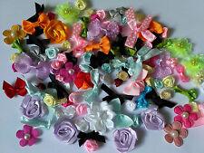 Lot 10 fleurs bow/flowers/rosette mixte Décoration Accessoires Scrapbooking