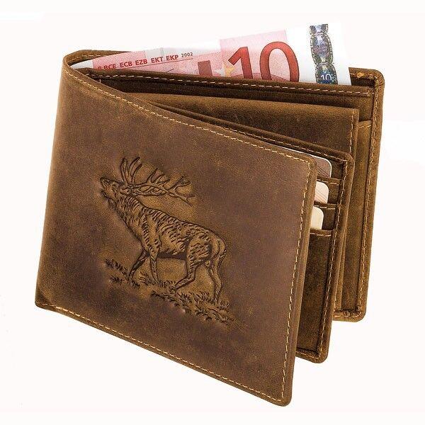 Akah Antikleder-Geldbörse Hirsch im Querformat Querformat Querformat mit vielen Fächern super Qualität   Neuer Stil  9469db